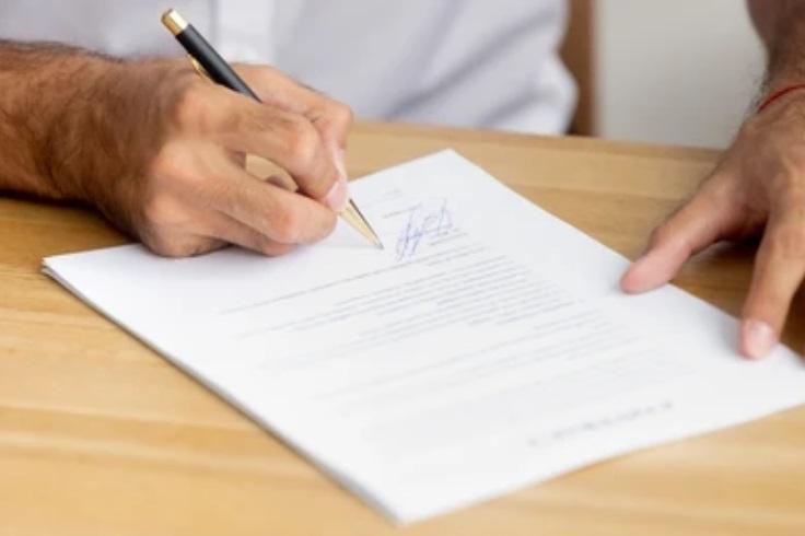 signer une attestation